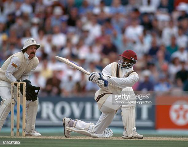 Shivnarine Chanderpaul batting for West Indies during the 6th Test match between England and West Indies at The Oval London 27th August 1995 The...