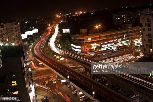 shivranjani overbridge, ahmedabad - ahmedabad stock pictures, royalty-free photos & images