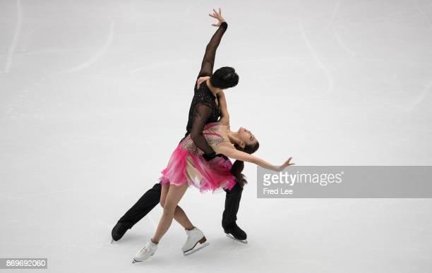Shiyue wang and Xinyu liu of china performs during the ISU Grand Prix of Figure Skating at on November 3 2017 in Beijing China
