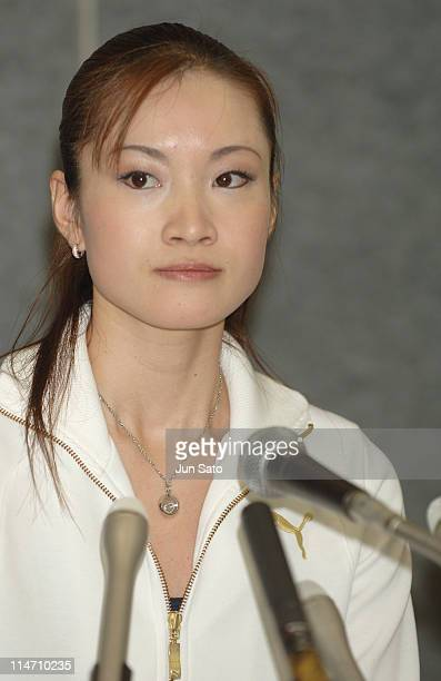 Shizuka Arakawa during 'Champions on Ice' Japan Tour 2006 Press Conference at Grande 21 in Sendai Japan