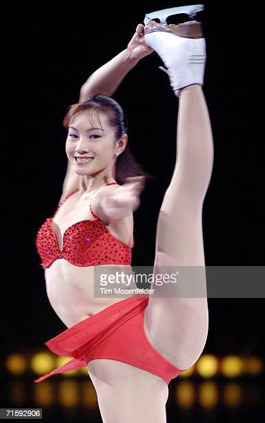 Shizuka Arakawa performs as part of 'Champions on Ice 2006' at the HP Pavilion on August 5 2006 in San Jose California