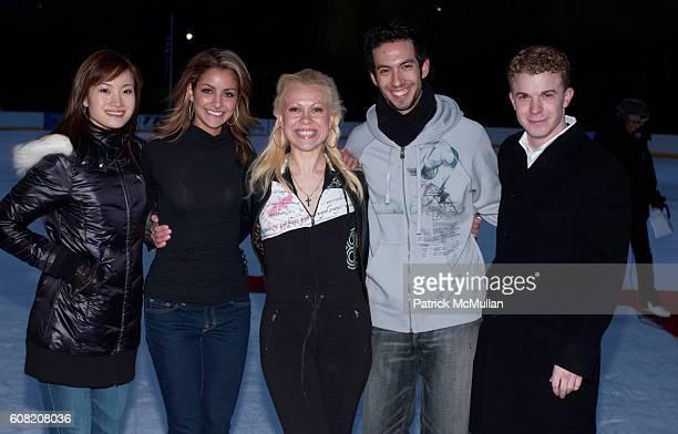 Shizuka Arakawa Tanith Belbin Oksana Baiul Ben Agosto and Timothy Goebel attend Skating with the Stars UNDER THE STARS honoring Scott Hamilton and...