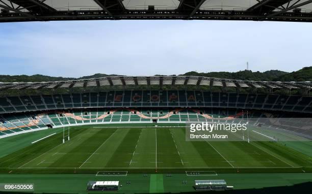 Shizuoka Japan 14 June 2017 A general view of the stadium after the captain's run in the Shizuoka Stadium Epoca in Fukuroi Shizuoka Prefecture Japan