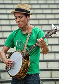shizuoka japan musician plays traditional irish