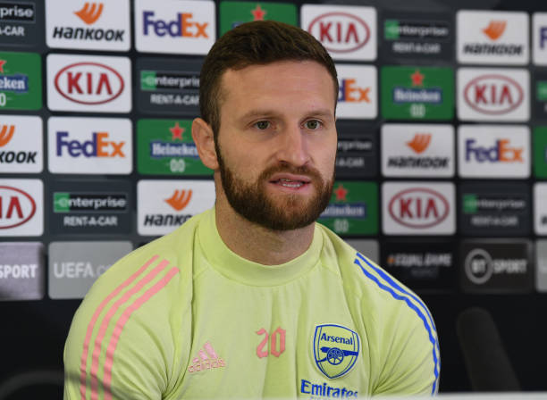 GBR: Arsenal FC - Press Conference And Training Session