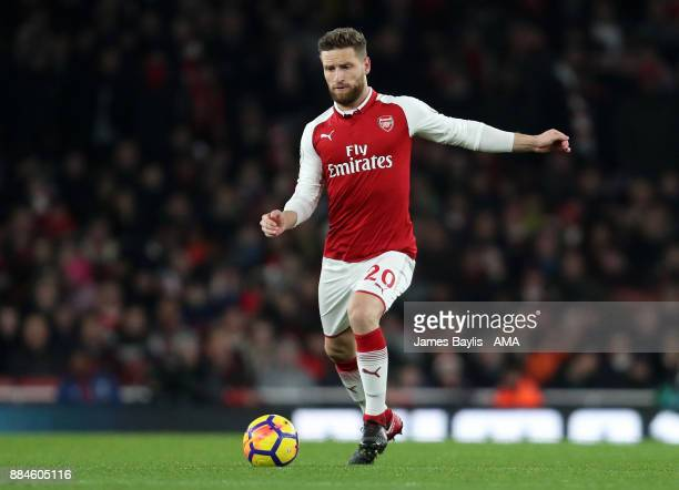 Shkodran Mustafi of Arsenal during the Premier League match between Arsenal and Manchester United at Emirates Stadium on December 2 2017 in London...