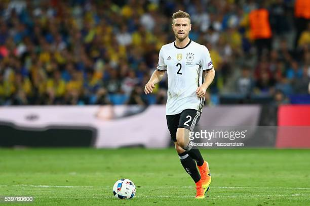 Shkodran Mustafi of Germany runs with the ball during the UEFA EURO 2016 Group C match between Germany and Ukraine at Stade PierreMauroy on June 12...