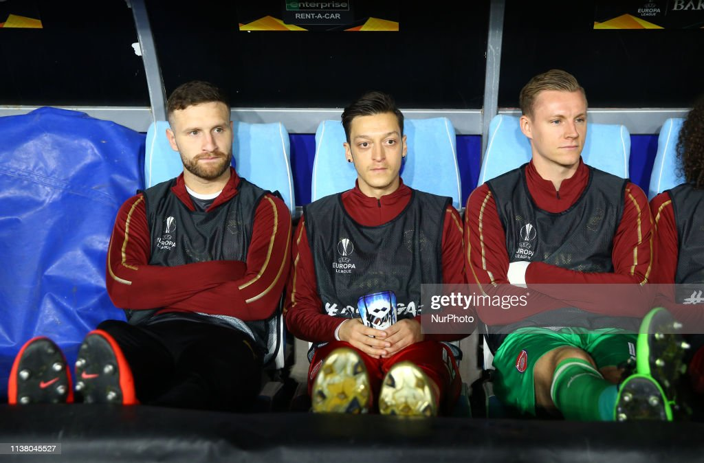 Image result for ozil mustafi europa league final