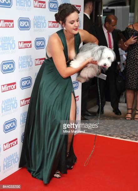 shleigh Butler attends the Animal Hero Awards 2017 at The Grosvenor House Hotel on September 7 2017 in London England