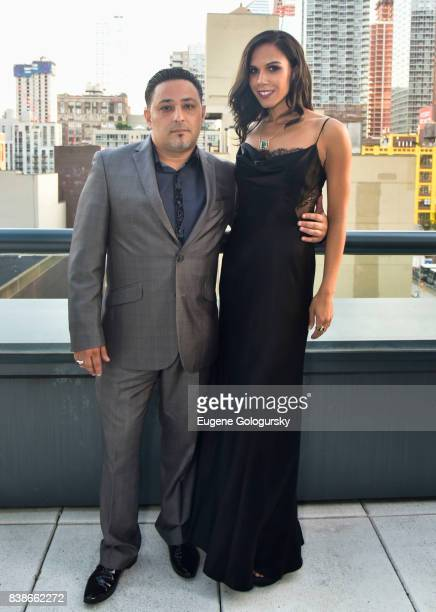 Shlomi Maman and Adrianna Edwards attend the ARIDO Gem Award 2017 honoring Adrianna Edwards at a private location on August 24 2017 in New York City