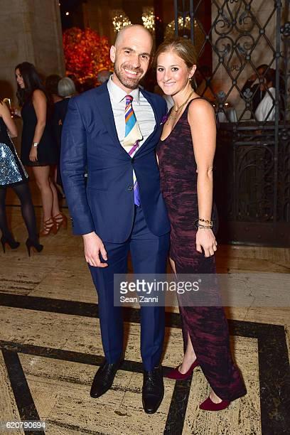 Shlomi Rabi and Alix Greenberg attend AFIM Gala Dinner 2016 at Cipriani 25 Broadway on November 2 2016 in New York City