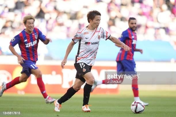 Sho INAGAKI of Nagoya Grampus in action during the J.League Levain Cup Semi Final second leg match between FC Tokyo and Nagoya Grampus at Ajinomoto...
