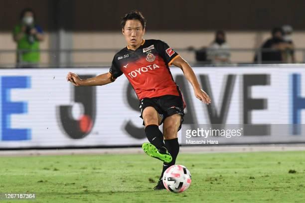 Sho Inagaki of Nagoya Grampus in action during the J.League Meiji Yasuda J1 match between Shonan Bellmare and Nagoya Grampus at the Shonan BMW...