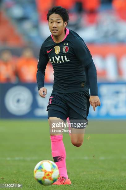 Sho Ito of Kashima Antlers in action during the AFC Champions League Group E match between Shandong Luneng and Kashima Antlers at Jinan Olympic...