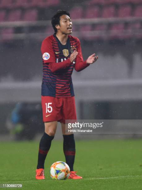 Sho Ito of Kashima Antlers in action during the AFC Champions League play off between Kashima Antlers and Newcastle Jets at Kashima Soccer Stadium on...