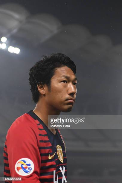Sho Ito of Kashima Antlers looks on prior to the AFC Champions League play off between Kashima Antlers and Newcastle Jets at Kashima Soccer Stadium...