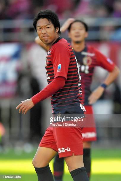 Sho Ito of Kashima Antlers reacts during the JLeague J1 match between Kashima Antlers and Kawasaki Frontale at Kashima Soccer Stadium on November 9...