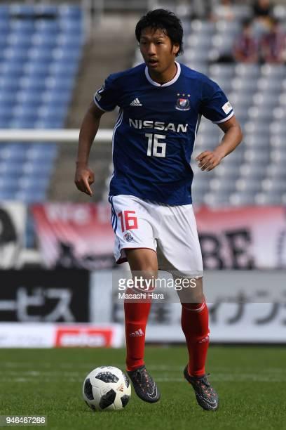Sho Ito of Yokohama FMarinos in action during the JLeague J1 match between Yokohama FMarinos and Vissel Kobe at Nissan Stadium on April 15 2018 in...