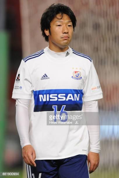 Sho Ito of Yokohama FMarinos looks on during the JLeague J1 match between Kashima Antlers and Yokohama FMarinos at Kashima Soccer Stadium on March 10...