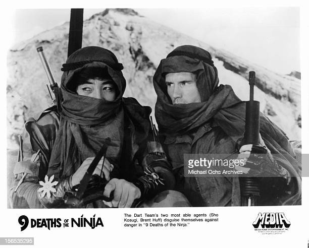 Sho Kosugi and Brent Huff go undercover in a scene from the film 'Nine Deaths Of The Ninja' 1985