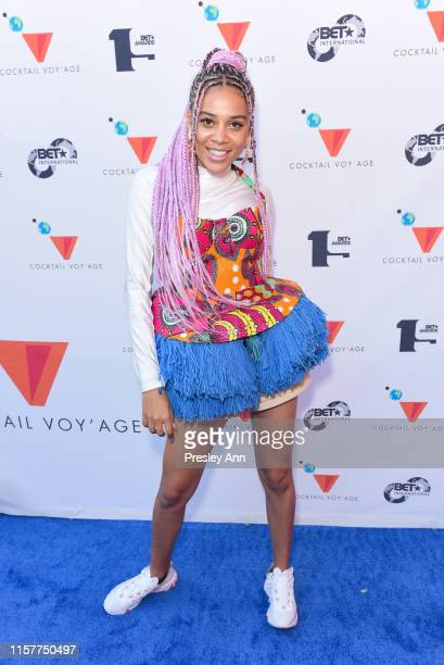 Sho Madjozi attends BET International Cocktail Voyage at Hotel Figueroa on June 22 2019 in Los Angeles California