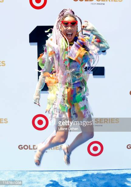 Sho Madjozi attends the Pantene Style Stage at the 2019 BET Awards at the 2019 BET Awards at Microsoft Theater on June 23 2019 in Los Angeles...