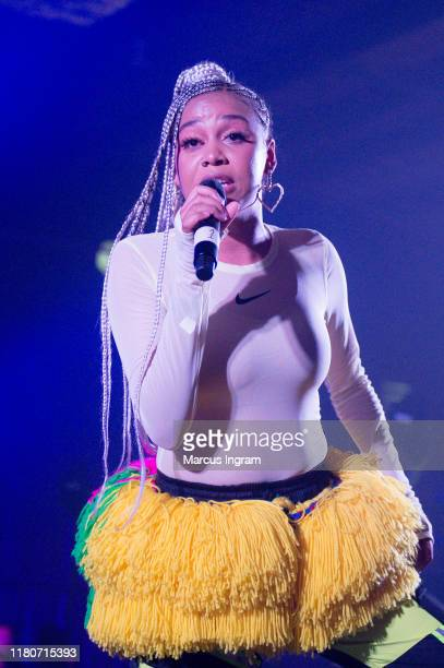 Sho Madjozi performs on stage during the 2019 Afropunk Atlanta on October 12 2019 in Atlanta Georgia