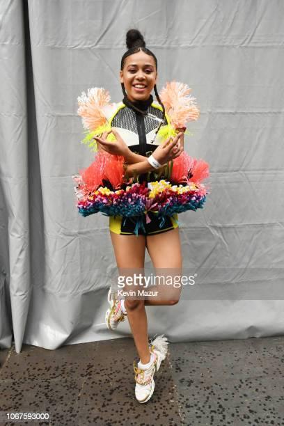 Sho Madjozi poses backstage during the Global Citizen Festival Mandela 100 at FNB Stadium on December 2 2018 in Johannesburg South Africa