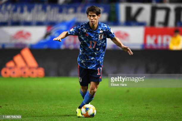 Sho Sasaki of Japan in action during the international friendly match between Japan and Venezuela at the Panasonic Stadium Suita on November 19, 2019...
