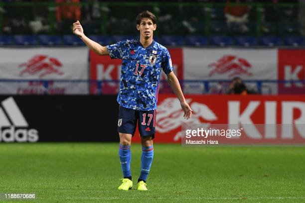 Sho Sasaki of Japan looks on during the international friendly match between Japan and Venezuela at the Panasonic Stadium Suita on November 19, 2019...