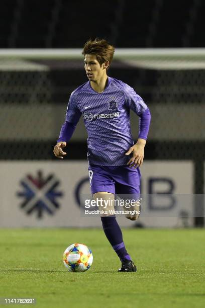 Sho Sasaki of Sanfrecce Hiroshima in action during the AFC Champions League Group F match between Sanfrecce Hiroshima and Daegu FC at Edion Stadium...