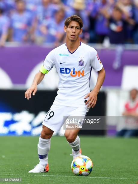 Sho Sasaki of Sanfrecce Hiroshima in action during the J.League J1 match between Urawa Red Diamonds and Sanfrecce HIroshima at Saitama Stadium on May...