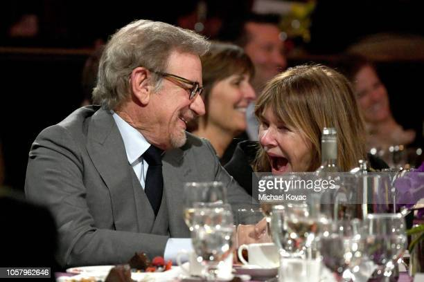 Shoah Foundation Founder Steven Spielberg and Kate Capshaw attend the Ambassadors For Humanity Gala Benefiting USC Shoah Foundation Honoring Rita...