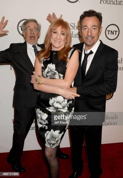 USC Shoah Foundation Honorary Chair Steven Spielberg musicians Patti Scialfa and Bruce Springsteen attend USC Shoah Foundation's 20th Anniversary...