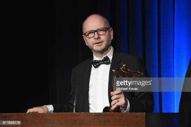 Shoah Foundation's Stephen D Smith accepts the Special Jury Prize onstage at the Advanced Imaging Society 2018 Lumiere Awards presented by Dell and...