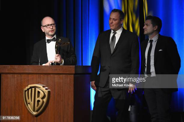 USC Shoah Foundation's Stephen D Smith cocreator Ari Palitz and MBC producer Tim Dillon accept the Special Jury Prize onstage at the Advanced Imaging...