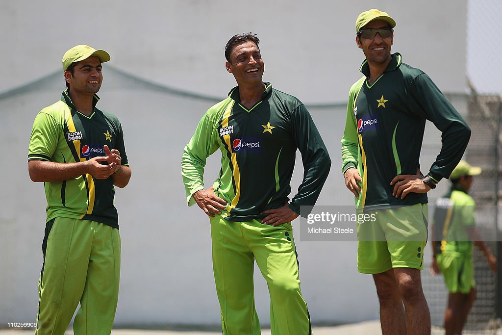 Shoaib Akhtar of Pakistan Announces His Retirement From International Cricket : News Photo