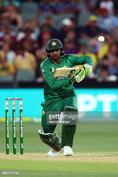 Shoaib Malik of Pakistan bats during game five of the One Day International series between Australia and Pakistan at Adelaide Oval on January 26 2017...