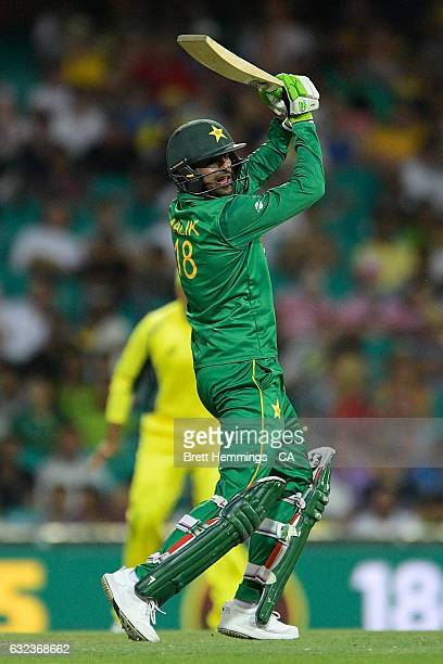Shoaib Malik of Pakistan bats during game four of the One Day International series between Australia and Pakistan at Sydney Cricket Ground on January...