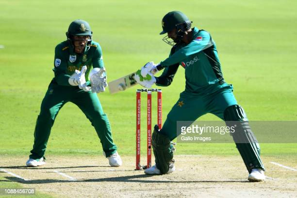 Shoaib Malik of Pakistan during the 3rd Momentum One Day International match between South Africa and Pakistan at SuperSport Park on January 25 2019...