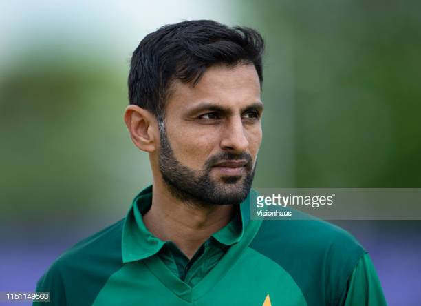 Shoaib Malik of Pakistan during the fifth One Day International between England and Pakistan at Headingley on May 19 2019 in Leeds England