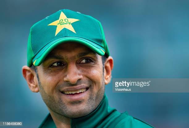 Shoaib Malik of Pakistan during the Group Stage match of the ICC Cricket World Cup 2019 between Pakistan and India at Old Trafford on June 16 2019 in...