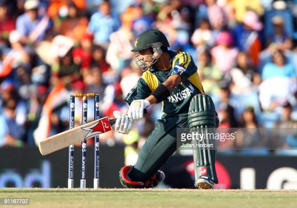 Shoaib Malik of Pakistan hits out during The ICC Champions Trophy Group A Match between India and Pakistan on September 26 2009 at The Supersport...
