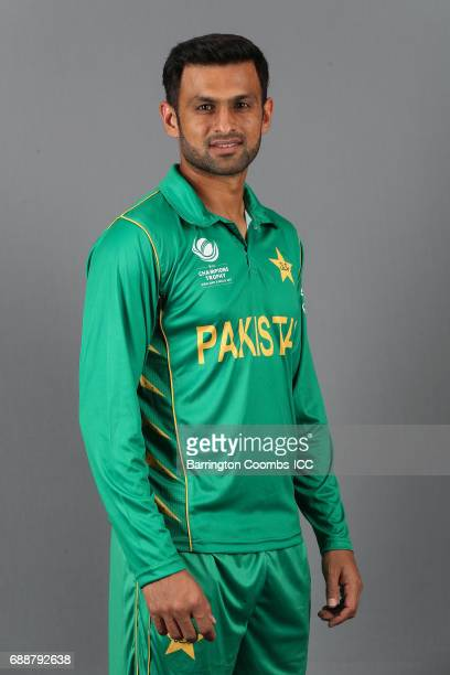 Shoaib Malik of Pakistan poses during the portrait session at the Malmaison Hotel on May 26 2017 in Birmingham England