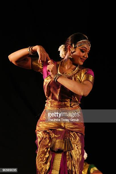 Shobana Actor and dancer of Bengalooru Habba performing Bharatanatyam in Bangalore Karnataka India