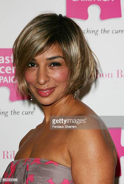 Shobna Gulati attends The Pink Ribbon Ball at The Dorchester on October 11 2008 in London England