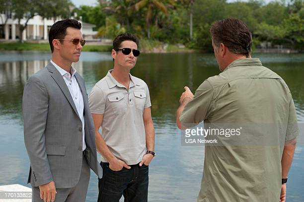 NOTICE Shock Wave Episode 606 Pictured Jeffrey Donovan as Michael Westen William Mapother Bruce Campbell as Sam Axe