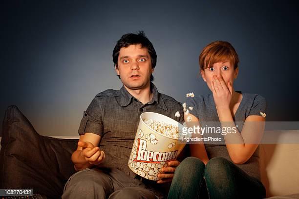 Shocked couple