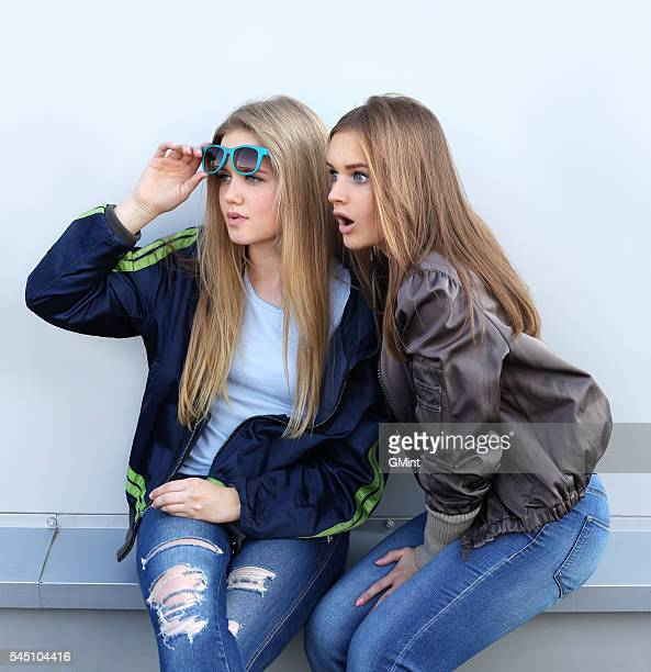 Shocked girls