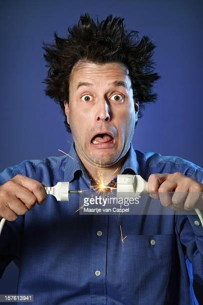 Shocked Man on Blue - Sparks